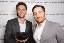 Hurricane's Jon Mowat and John Lanyon at the Media Innovation Awards Bristol